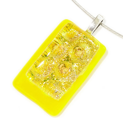 Luxe Glashanger Yellow Bubbles