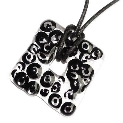 Millefiori Glashanger Black Circles