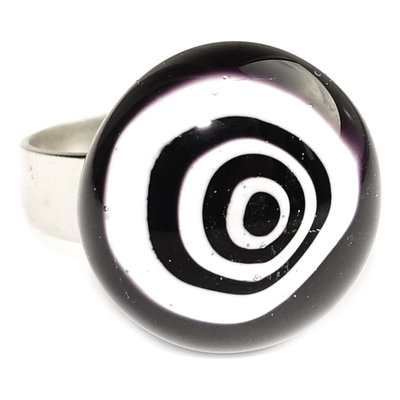 RVS Ring Black Circles