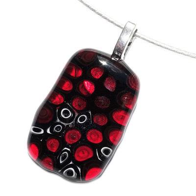 Millefiori Glashanger Red Circles