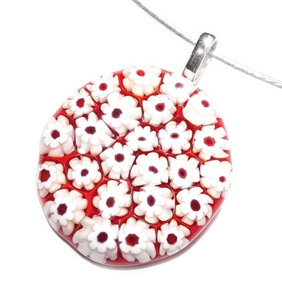 Millefiori Glashanger Red Whites