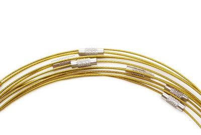 Spang ketting goud met draaisluiting, 45 cm lengte