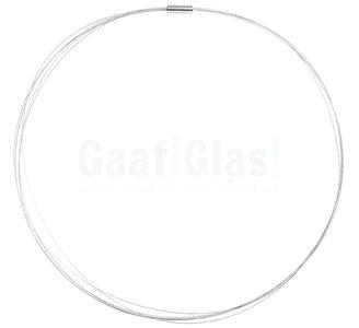 Draadketting met magneetsluiting. Ideale zilvergrijze draad ketting voor hangers. Zilvergrijs 48 cm.