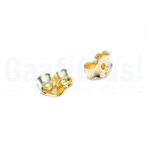 Gouden oorbel stoppers 22K goud vermeil oorbel achterkantjes/vlindertjes