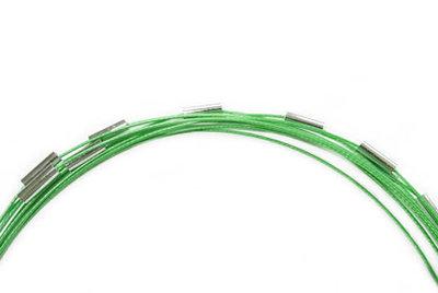 Groene spang ketting met magnetische sluiting