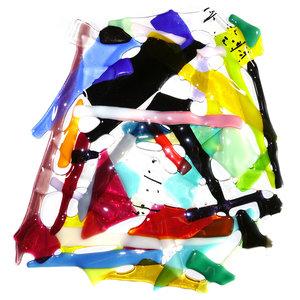 Grote kleurrijke raamhanger van de mooiste soorten glas.