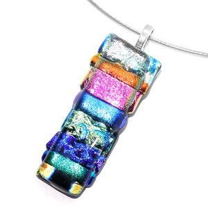 Kleurrijke hanger handgemaakt van de mooiste kleuren speciaal glas.