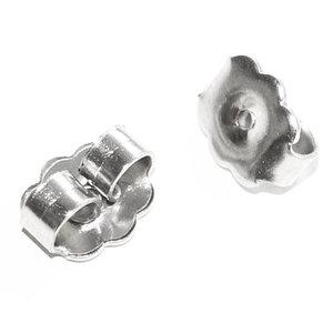 RVS achterkantjes, stoppers voor oorbellen, Chirurgisch staal, 5 paar