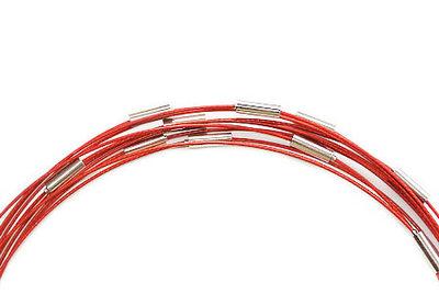Handige rode wisselketting. Spang met magneet sluiting, Rood, 45 cm.