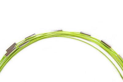 Spang ketting, lime groen met magneetsluiting, 46 cm.