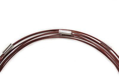 Spang ketting met magneetsluiting, bruin, 47 cm.