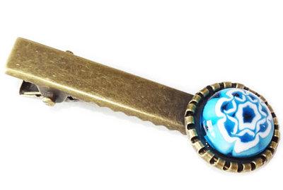 Haarspeldje met een blauwe bloem