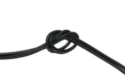 Leren koord zwart 80 cm. 2 mm.