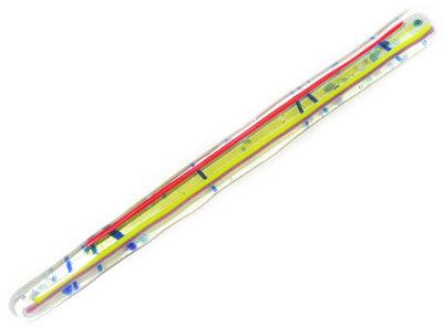 Handgemaakt multicolor roerstaafje van glas met kleurrijke strepen!