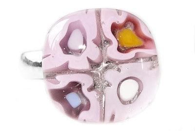 Paars-roze-lila ring voor kinderen > Verstelbare ring!
