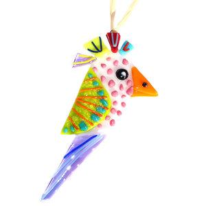 Vrolijk vogel van glas! Hangers om je huis, balkon of tuin mee op te vrolijken!