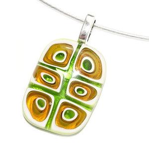 Glashanger handgemaakt van groen millefiori glas!