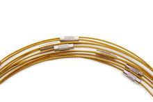 Spang ketting goud met draaisluiting, 46 cm lengte