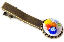 Handgemaakte haarknip met multicolor bloemetjes!
