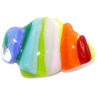 Handgemaakte glazen broche in multicolor kleuren! Kleurrijke speld van glas!