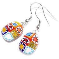 Unieke sterren oorbellen. Handgemaakte glazen oorbellen met kleurrijke sterren in het glas!