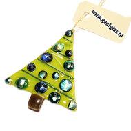 Kerstboom glashanger handgemaakt in eigen atelier.